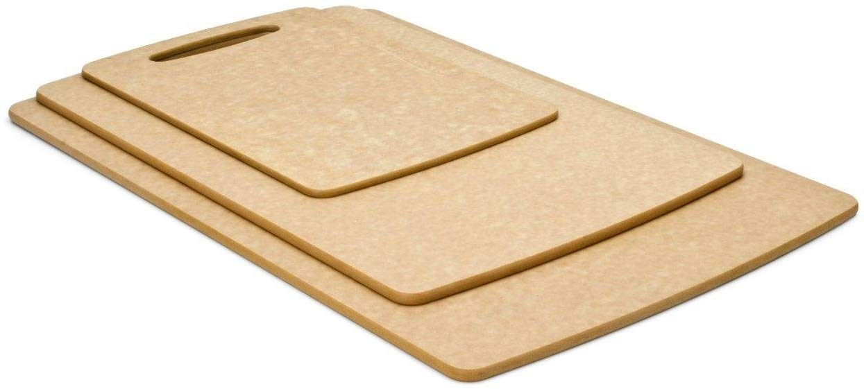 Prep series cutting boards by epicurean, 3 piece, natural