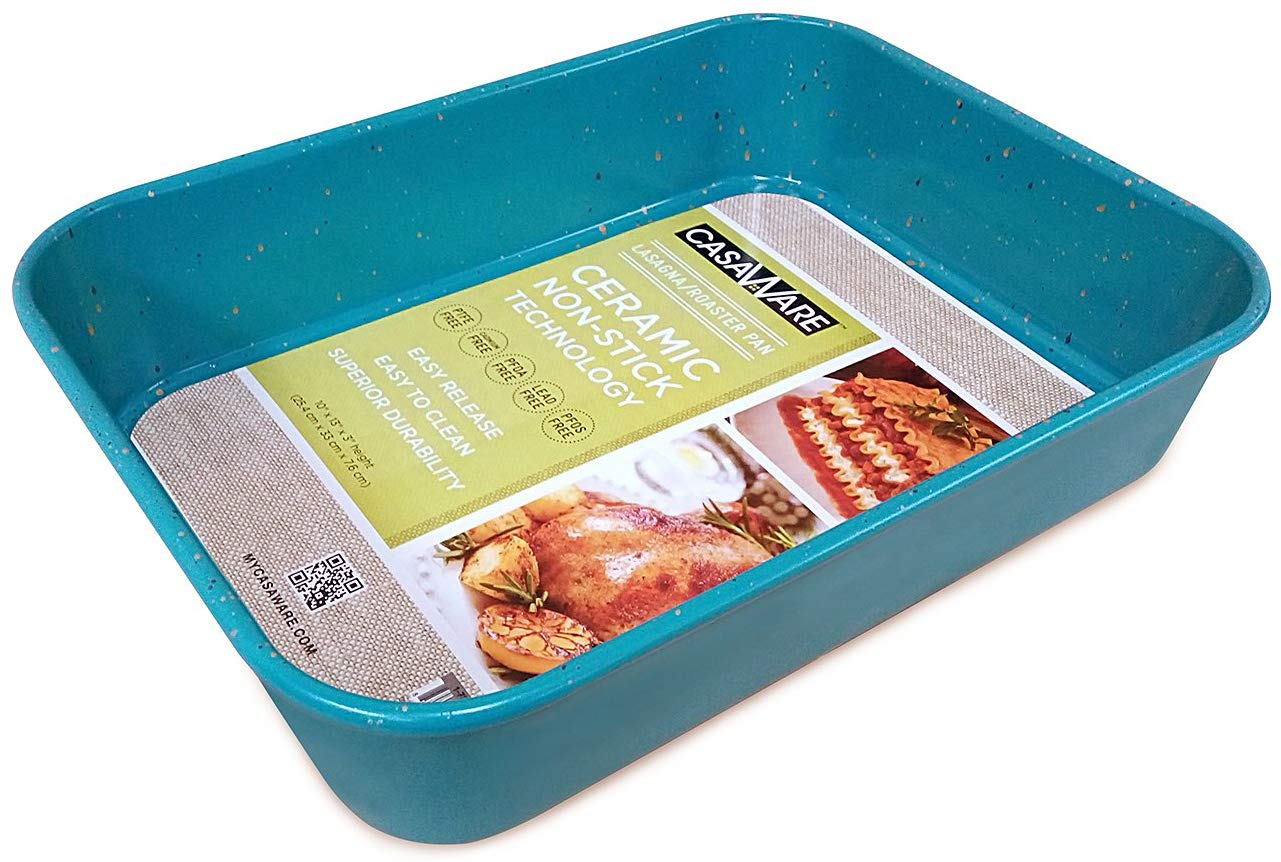 Casaware ceramic coated nonstick lasagna/roaster pan