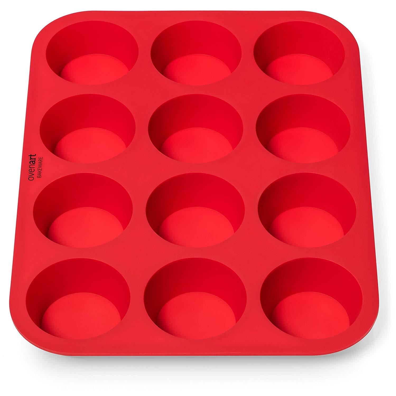 Ovenart bakeware ov-sb50-01 silicone muffin pan