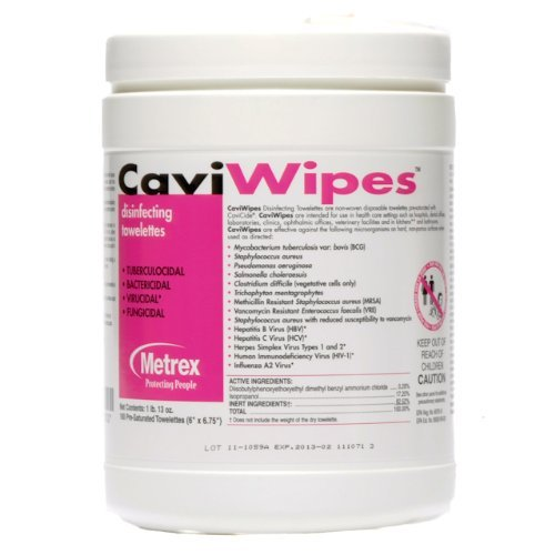 Caviwipes by metrex disinfecting towelettes