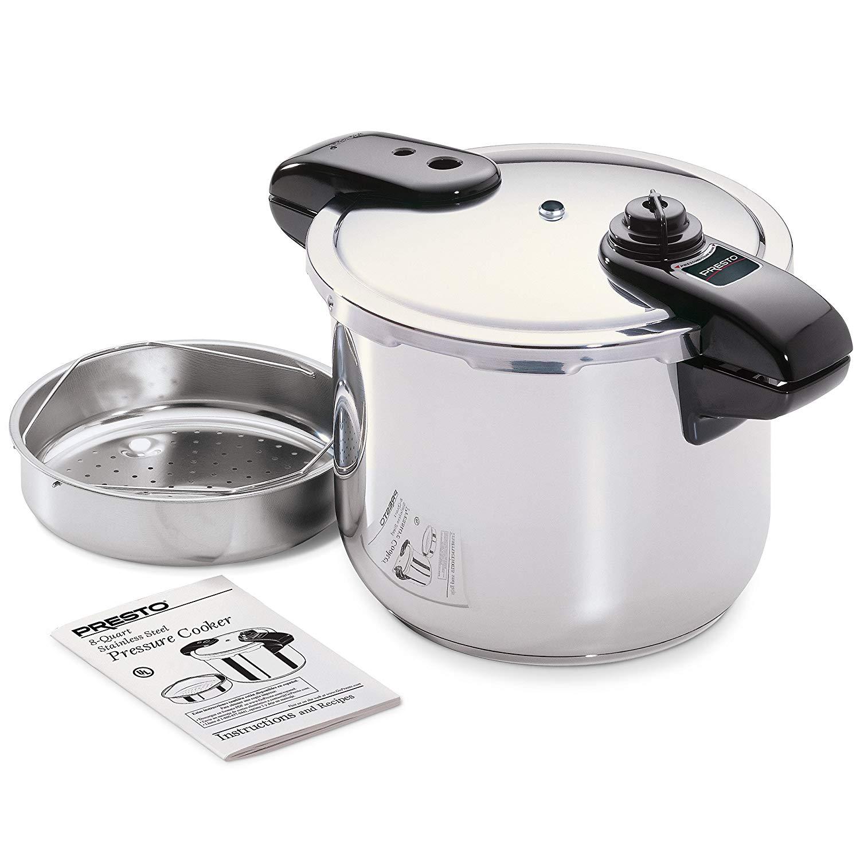 Presto 01370 stainless steel pressure cooker