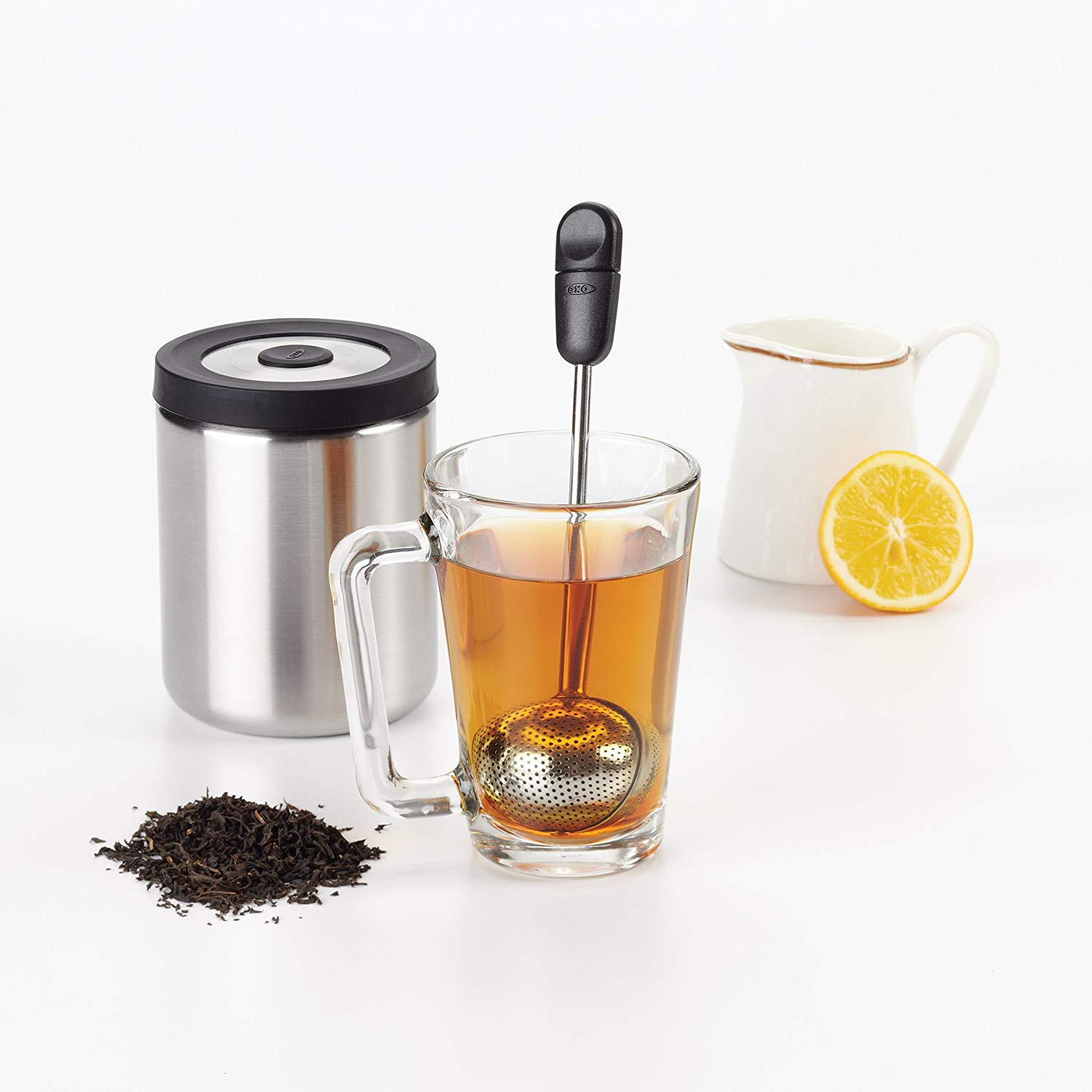 The oxo good grips twisting tea ball