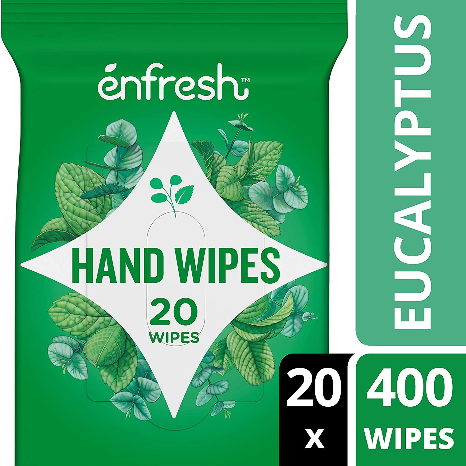 Enfresh refreshing grapefruit naturally derived hand wipes