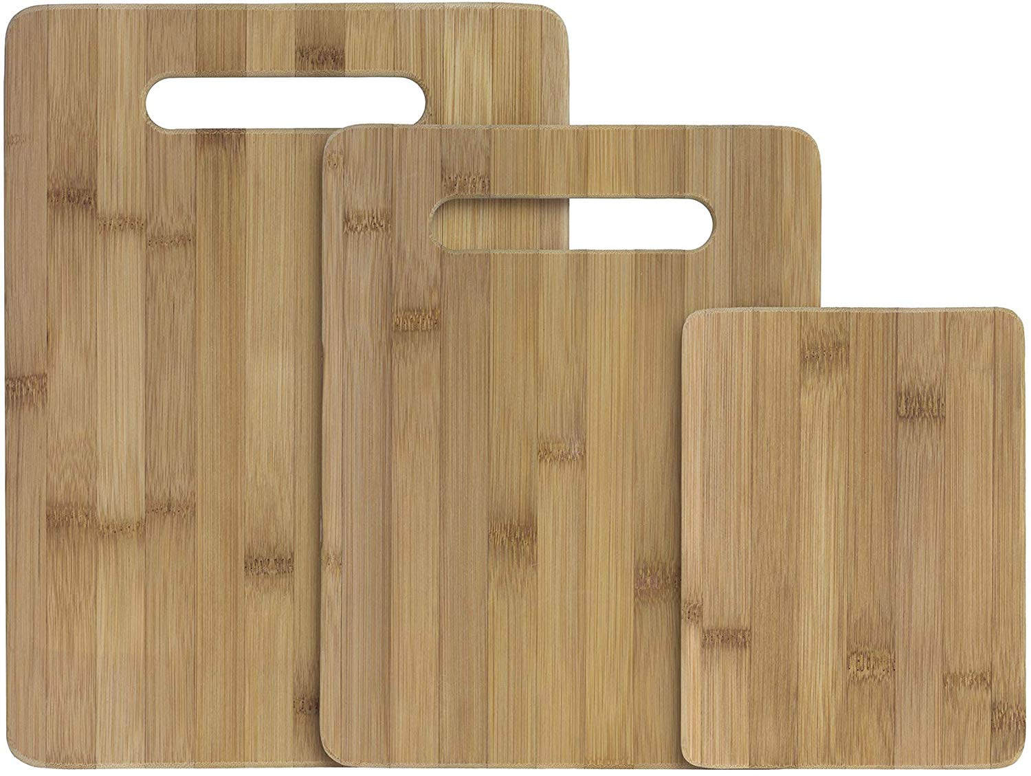 Totally bamboo 3-piece bamboo serving and cutting board