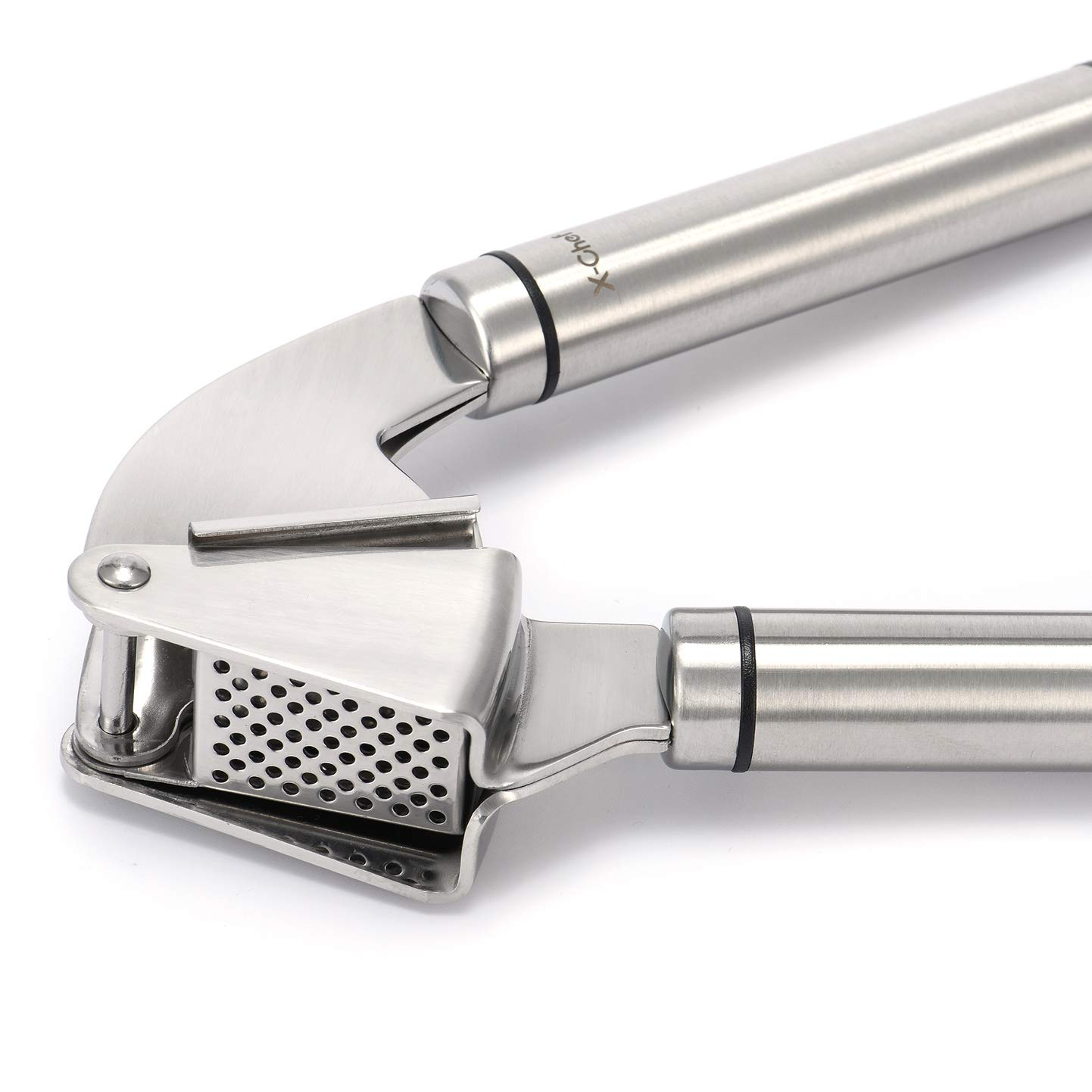 X-chef, steel garlic press