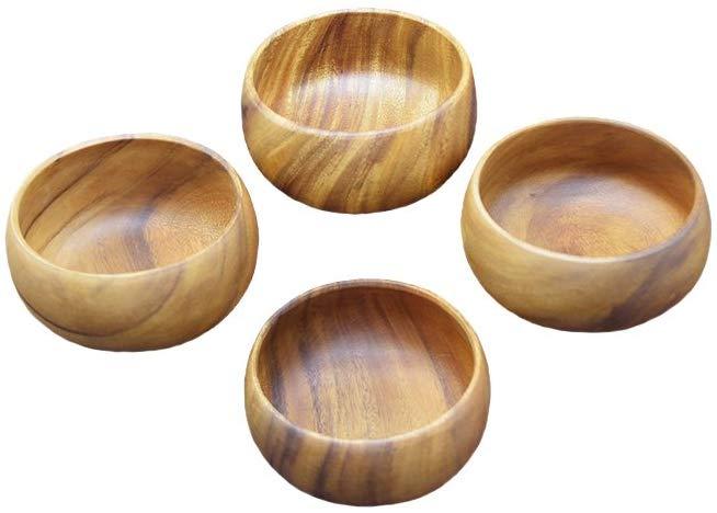 Pacific merchants acaciaware 6- by 3-inch acacia wood round calabash serving