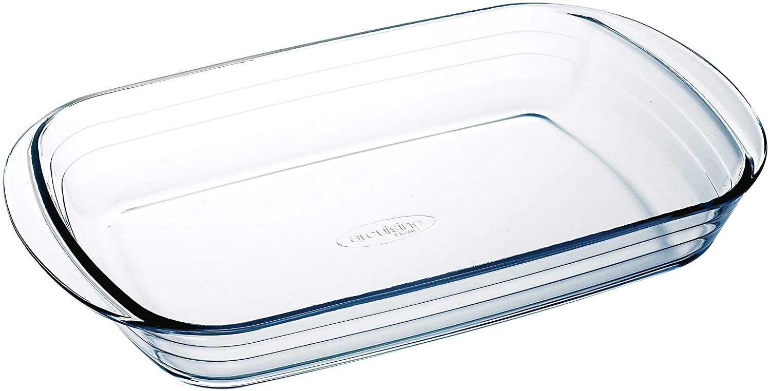 The arcuisine glass rectangular roaster pan