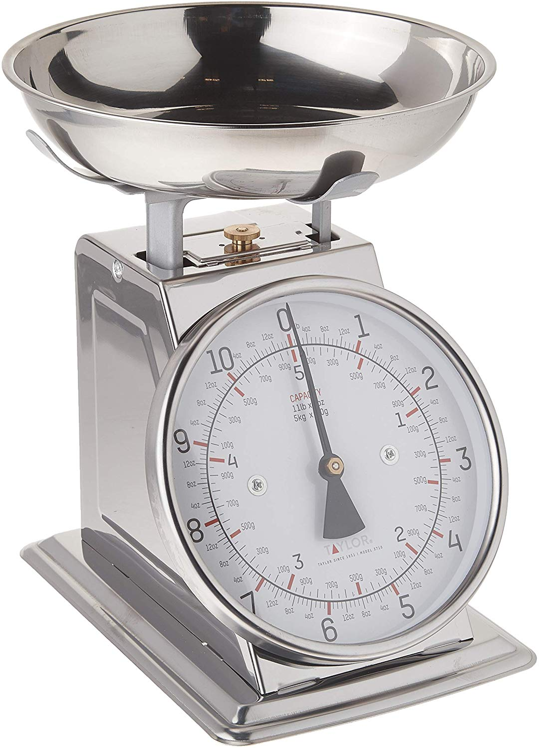 Taylor precision stainless steel analog kitchen scale