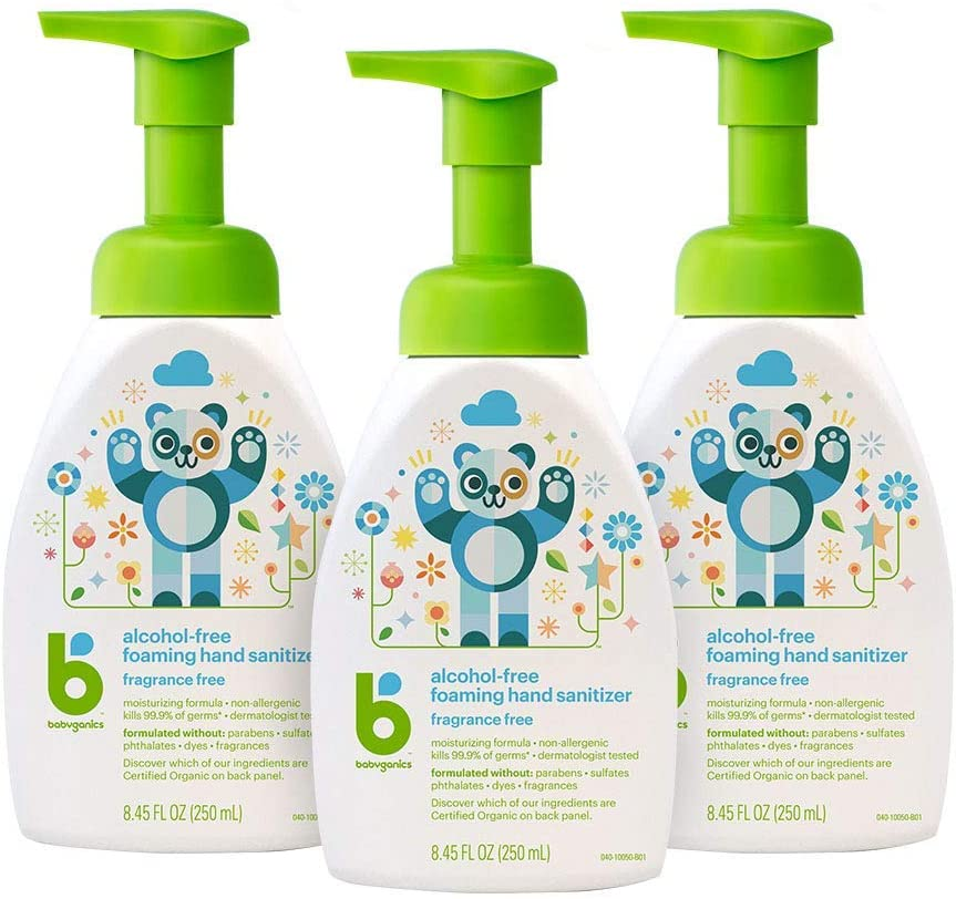 Babyganics alcohol-free foaming sanitizer