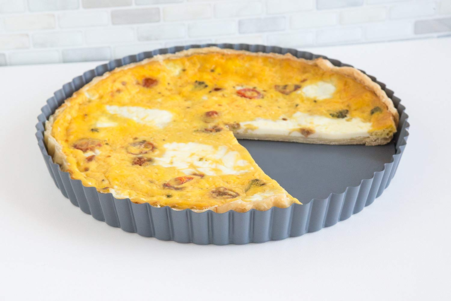 Fox run 44513 round loose bottom quiche pan