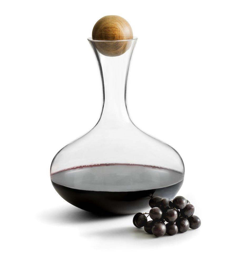 Sagaform hand-blown glass wine decanter