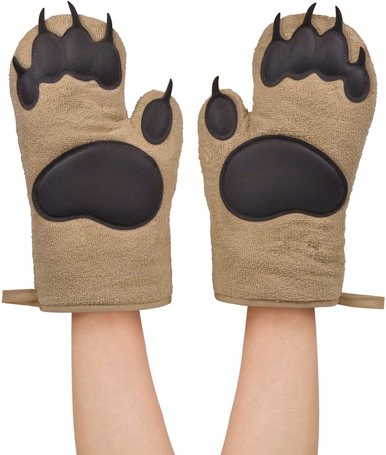 Fred bear hands oven mitts
