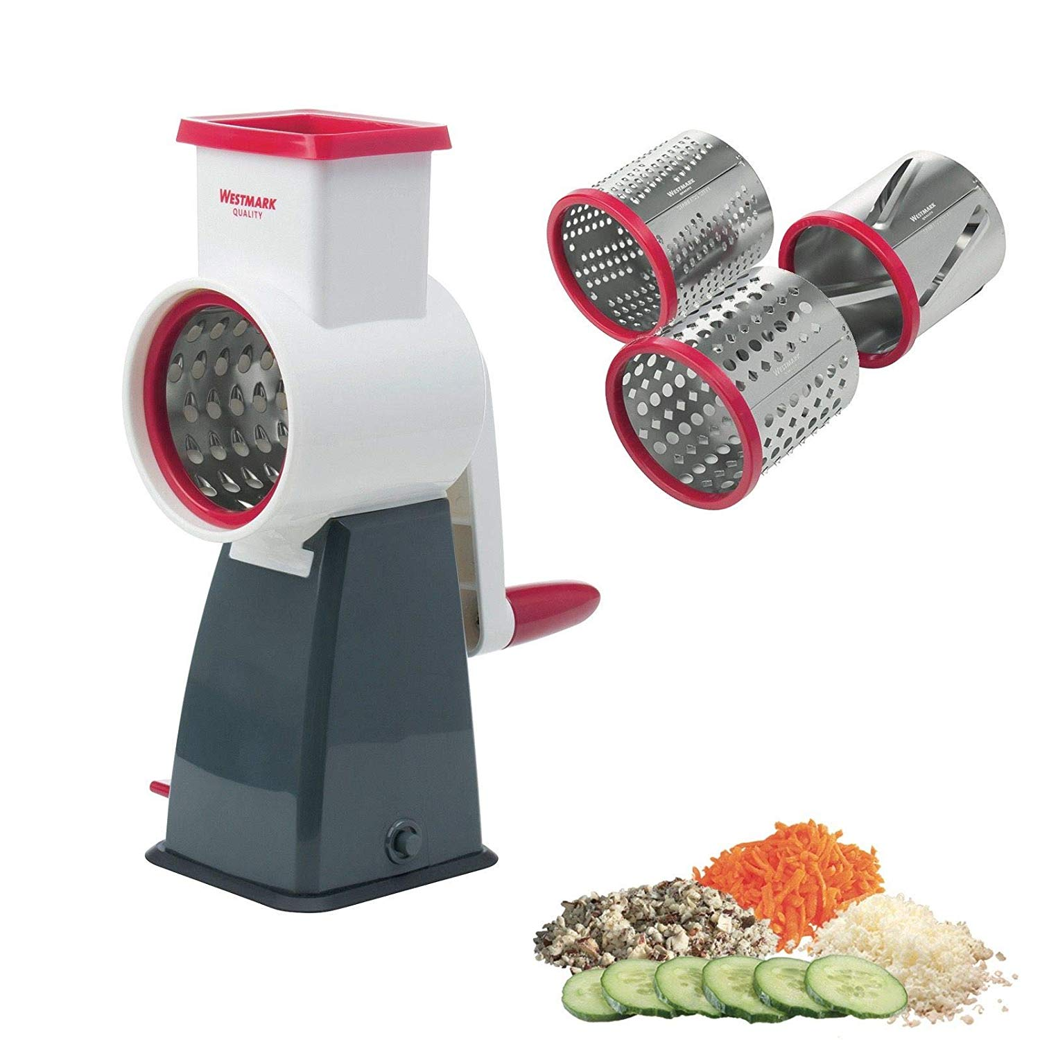 Westmark multipurpose stainless steel rotary cheese grater