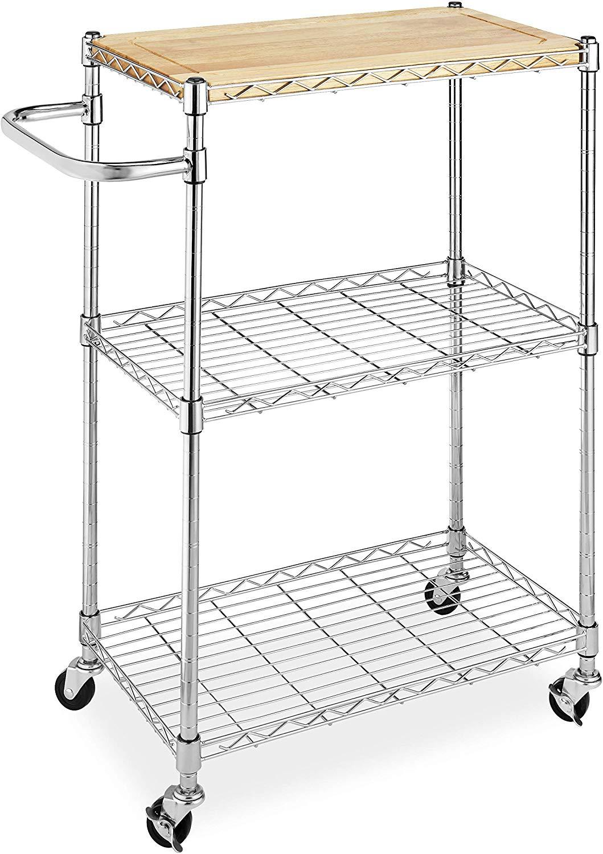 Whitmor supreme kitchen cart with wheels