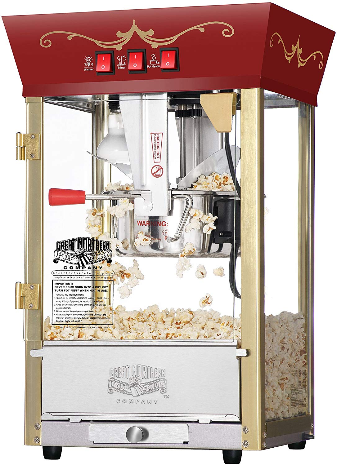 The great northern popcorn red matinee movie theater style