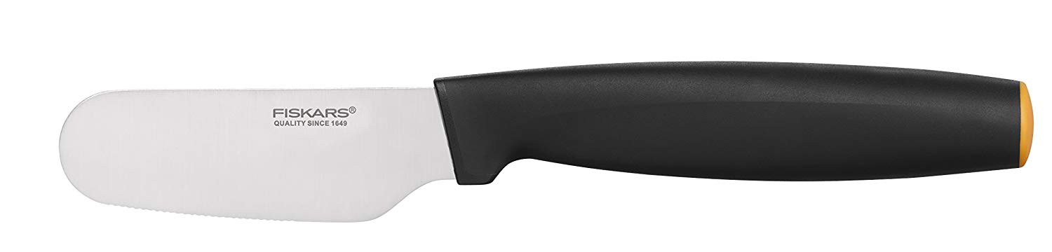 Fiskars butter knife, total length: 21 cm, quality steel/synthetic material, functional form, 1014191
