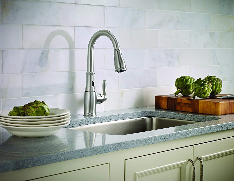 Moen brantford 7185esrs motionsense kitchen faucet