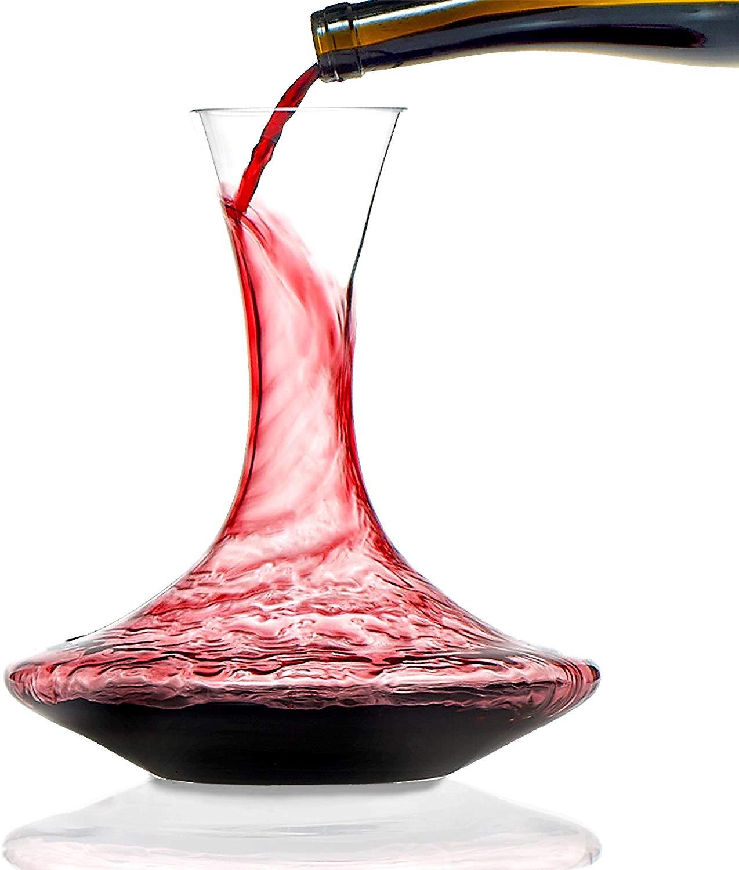 Wine enthusiast crystal vivid wine decanter