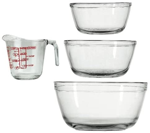 Anchor hocking mixing bowls and measuring cup set