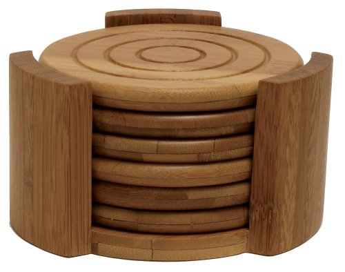 Lipper bamboo collection coaster set