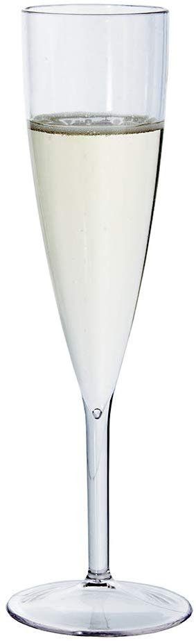 Us acrylic plastic 5-ounce champagne flute set