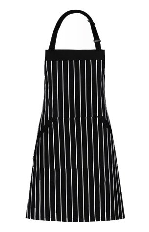 Adjustable bib apron with pockets – extra long ties, commercial grade, unisex