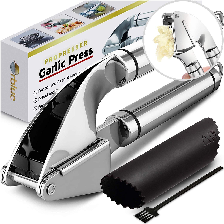???orblue stainless steel garlic press