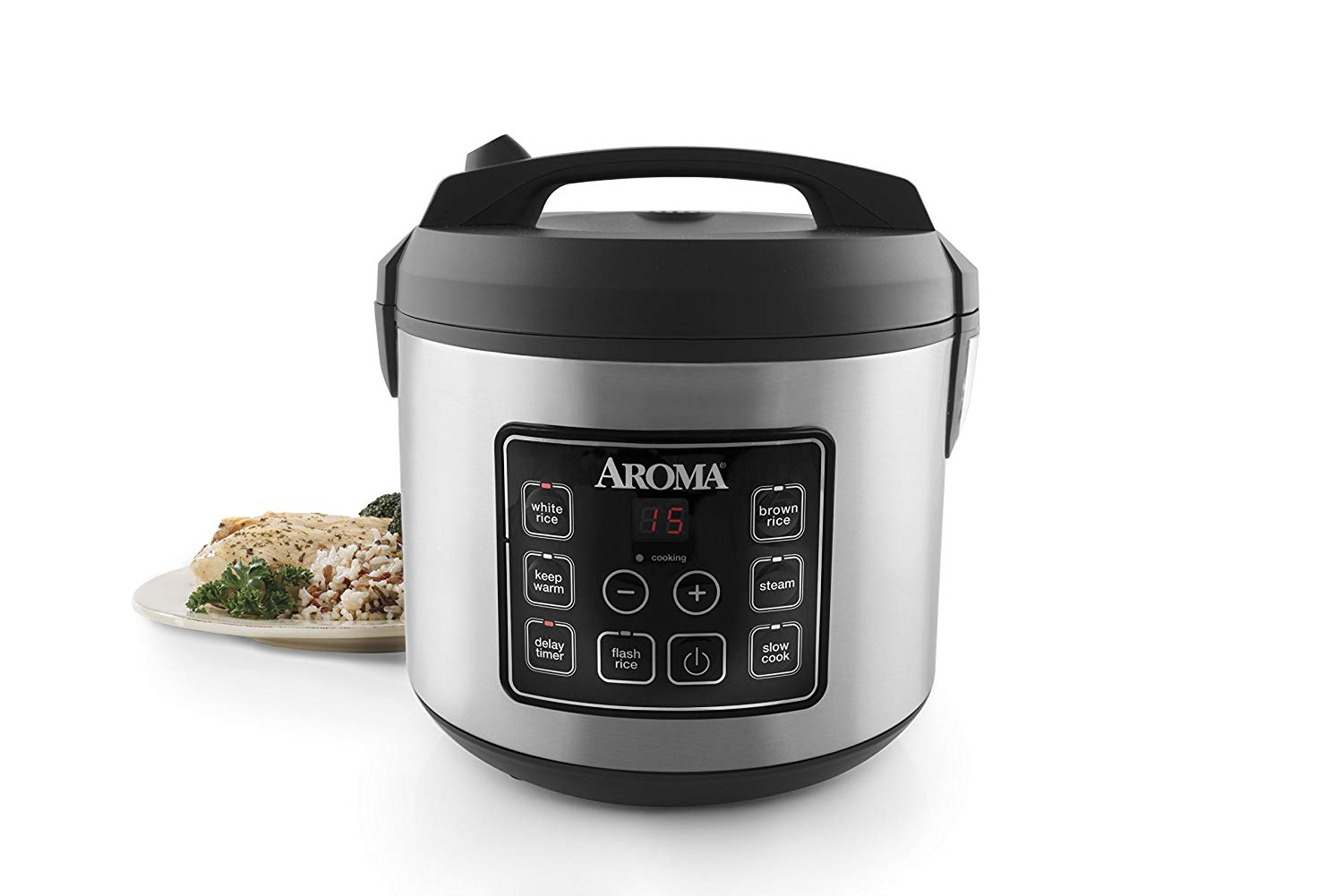 Aroma® housewares rice cooker, slow cooker, and food steamer