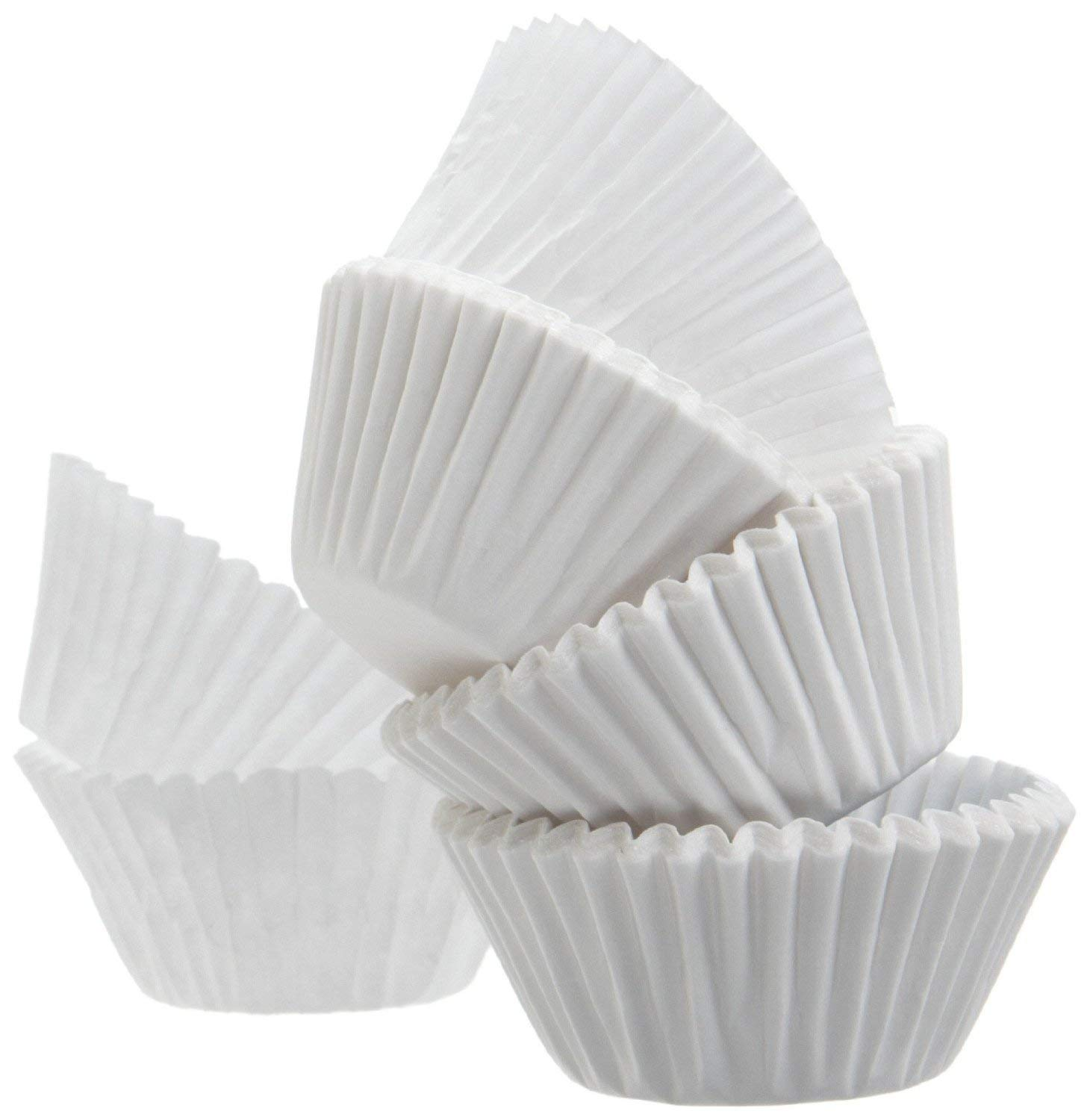 Standard size white cupcake paper