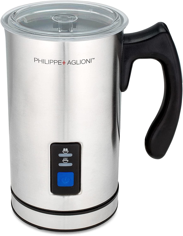 Matchadna handheld electric milk frother (silver carafe jug)