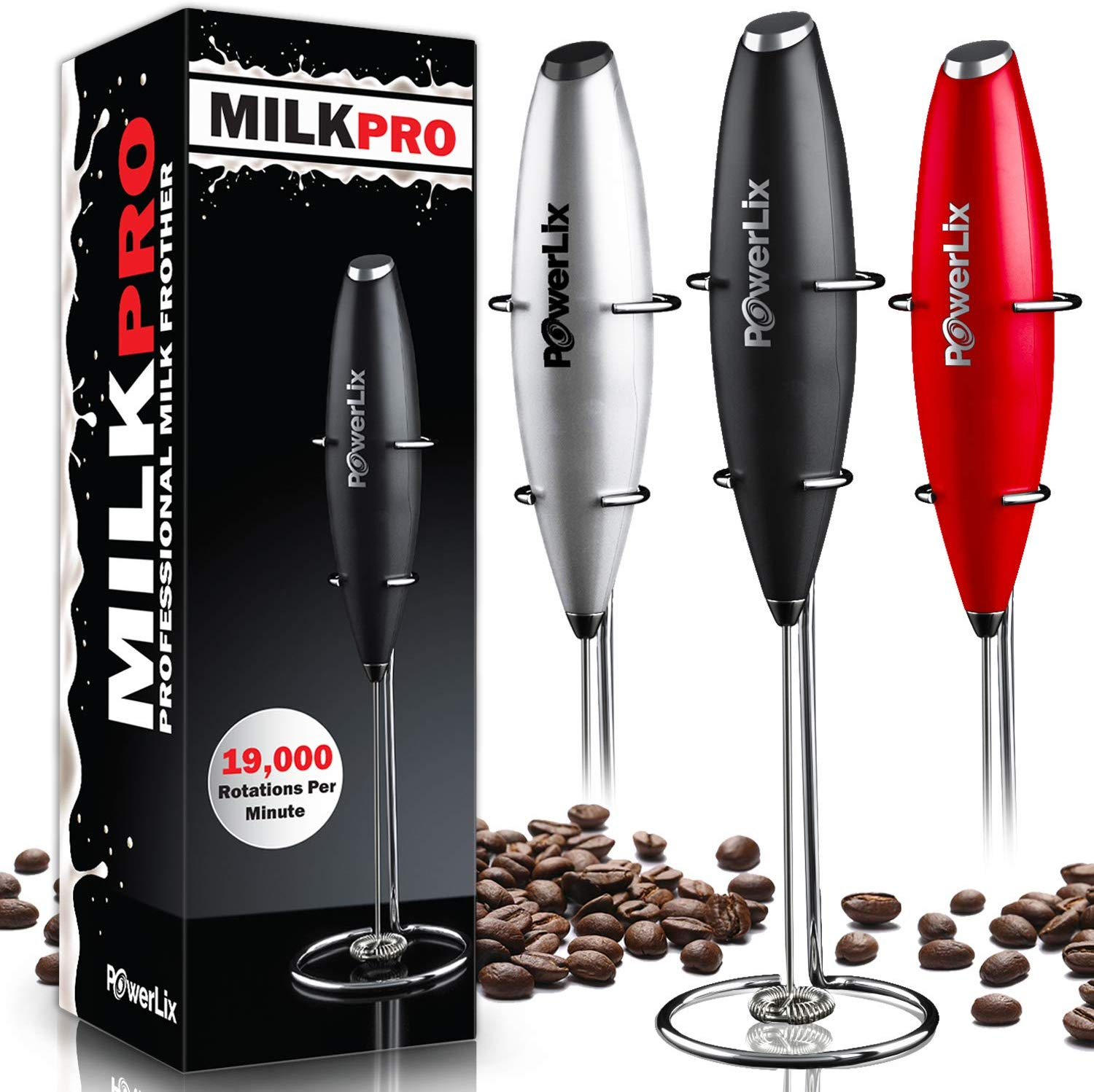 Powerlix handheld battery operated milk frother