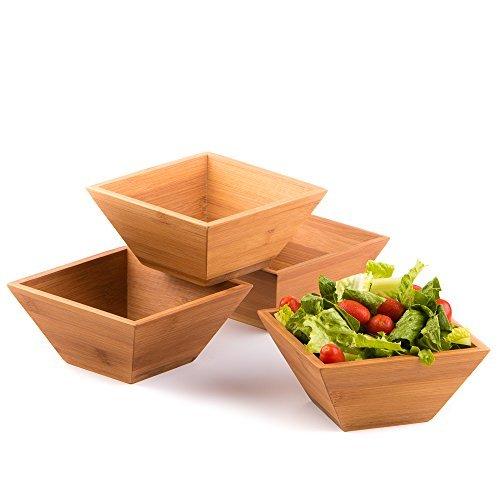 Midori way wood salad bowl set bamboo