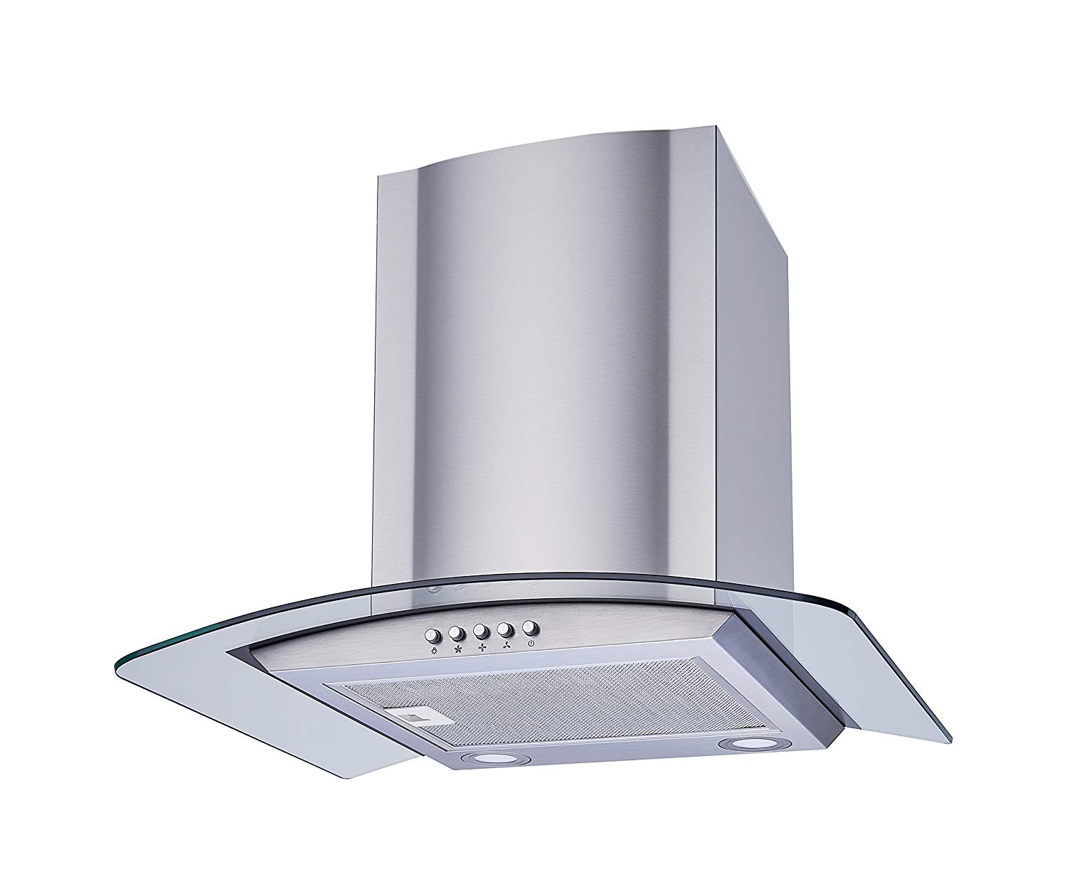 Winflo glass and stainless steel range hood