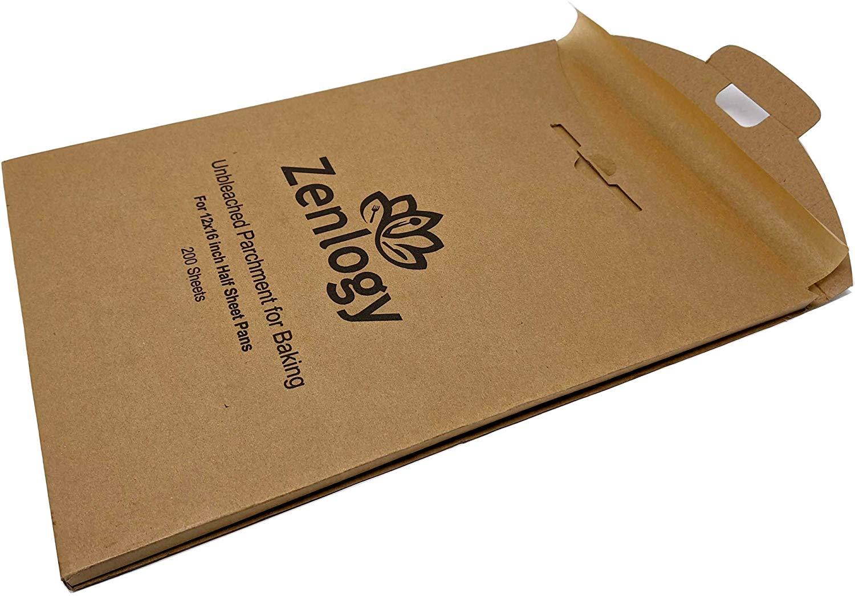 Zenlogy exact fit unbleached parchment paper baking sheets