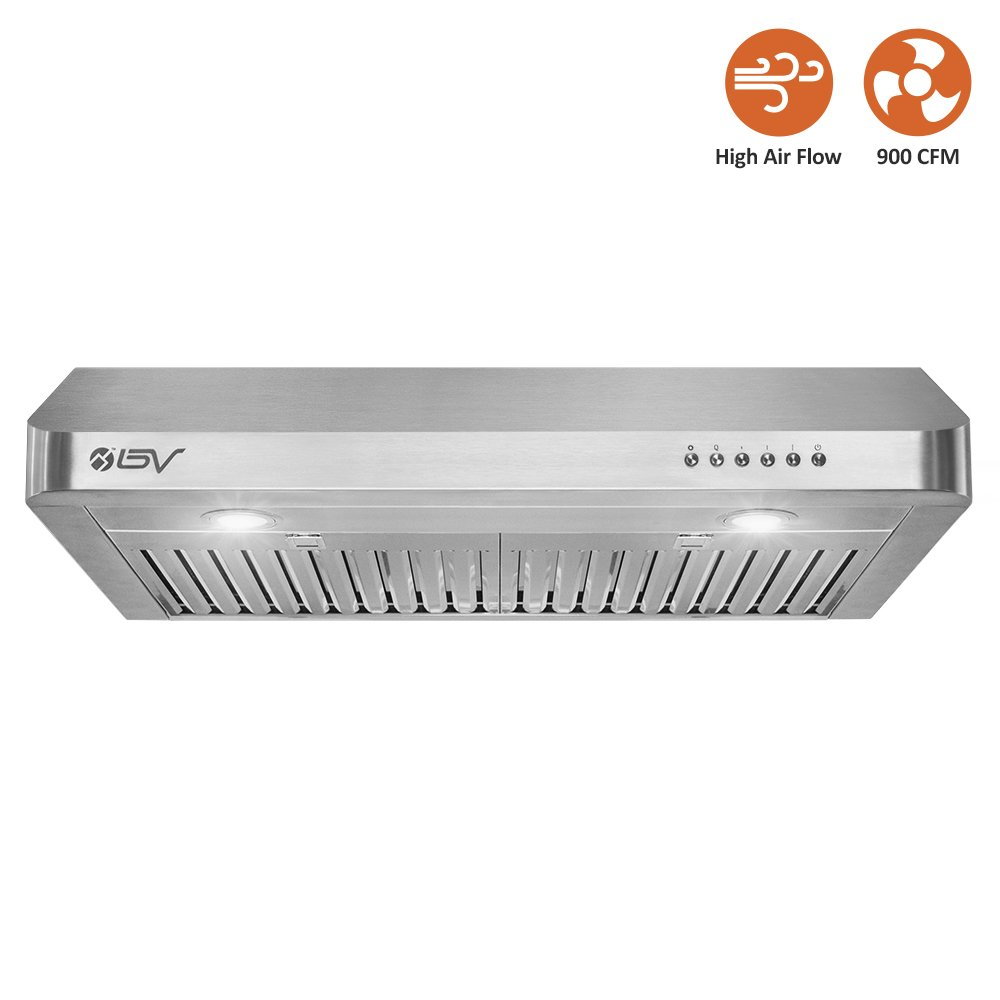 Bv stainless steel high airflow ducted range hood
