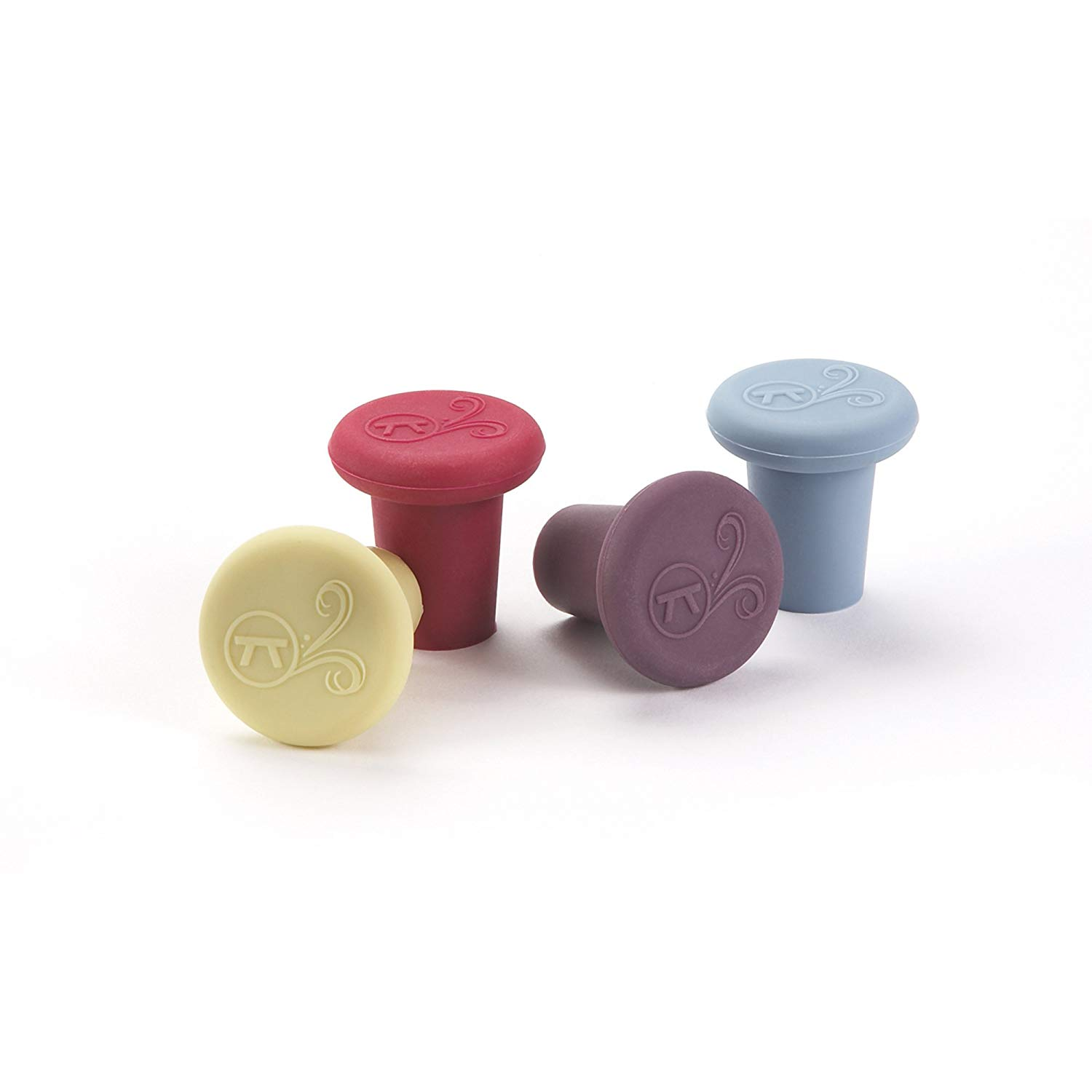Outset silicone wine bottle stoppers