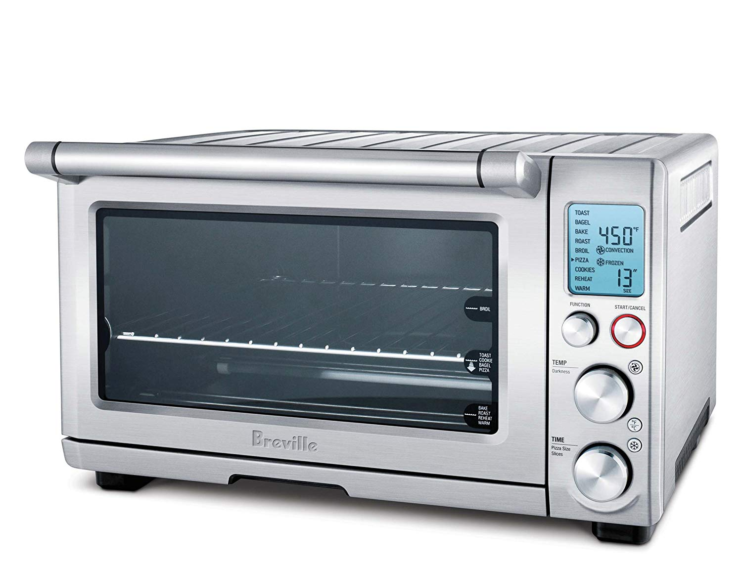 Breville bov800crnxl smart oven 1800-watt convection toaster oven with element iq