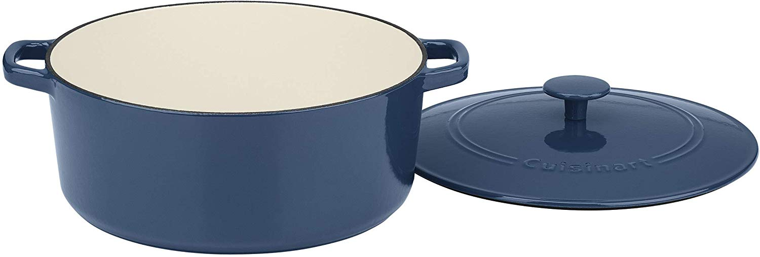 Cuisinart chef's classic enameled cast iron 7-quart round covered casserole