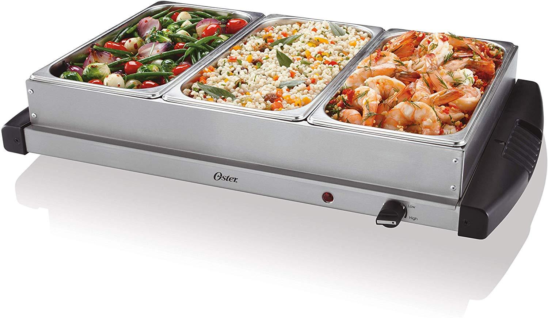 Oster buffet server, triple tray, 2-1/2 quart