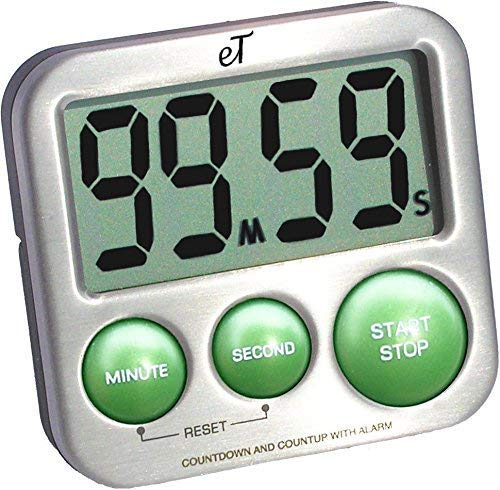 Etradewinds et-25 stainless steel digital kitchen timer