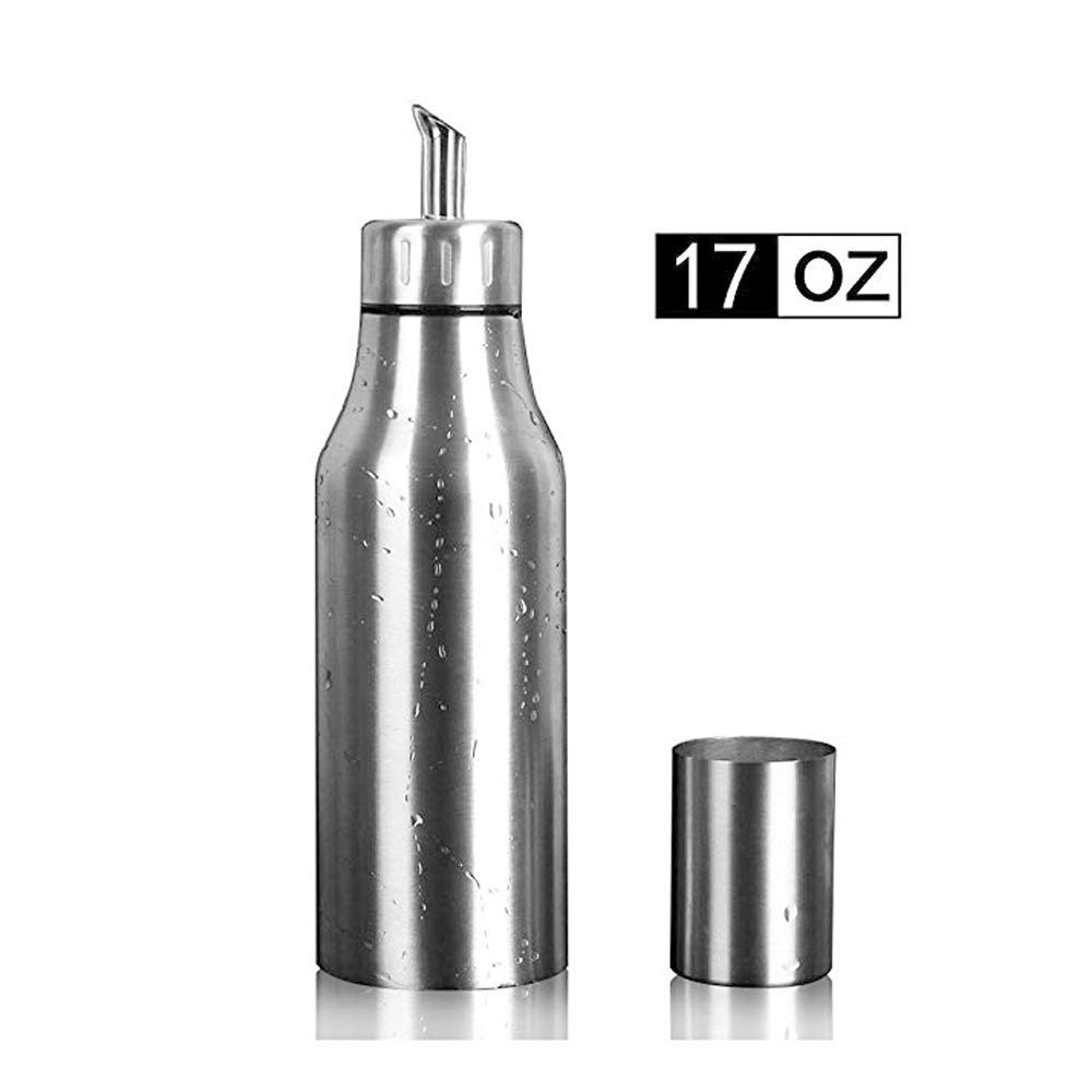 Per-home stainless steel bottle for olive oil