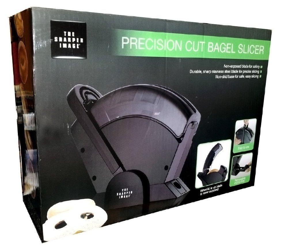 The sharper image precision cut bagel slicer