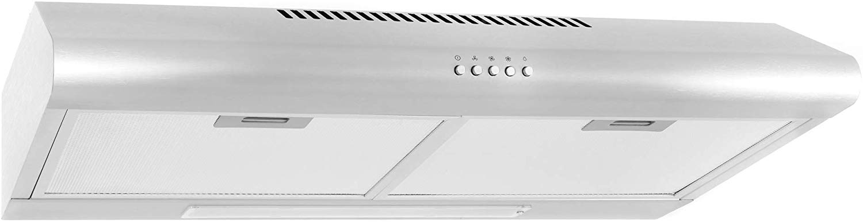Cosmo stainless steel 200 cfm range hood