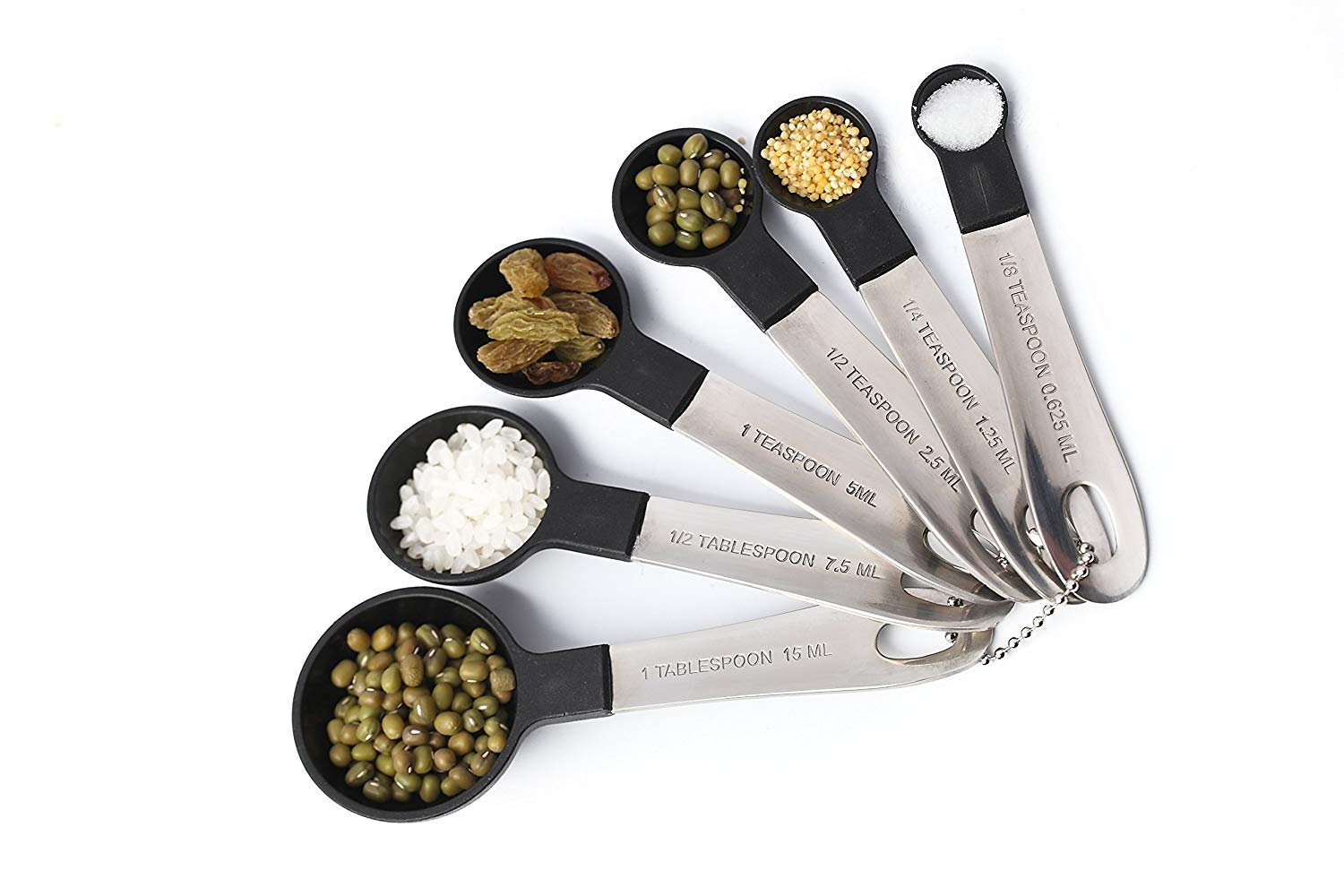 Generic set of 6 measuring spoon