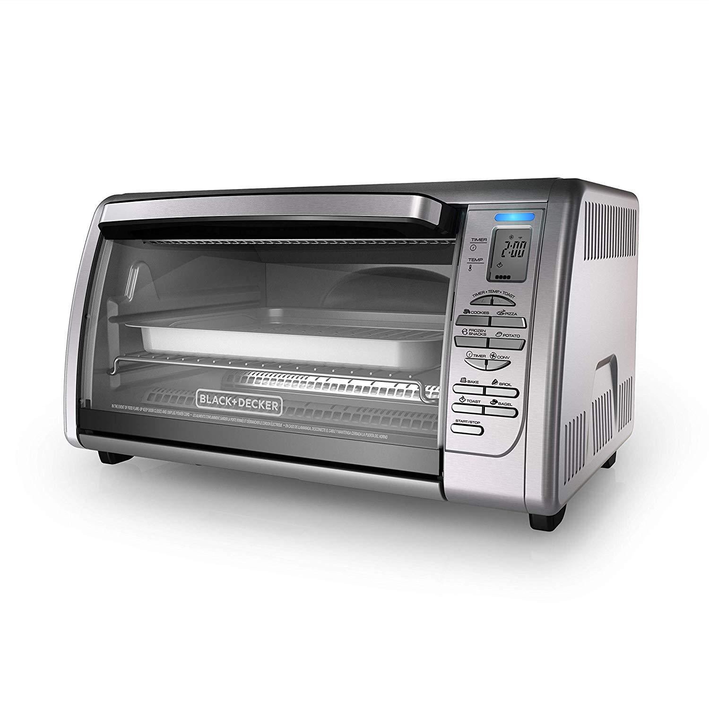 Black+decker cto6335s 6-slice digital convection countertop toaster oven
