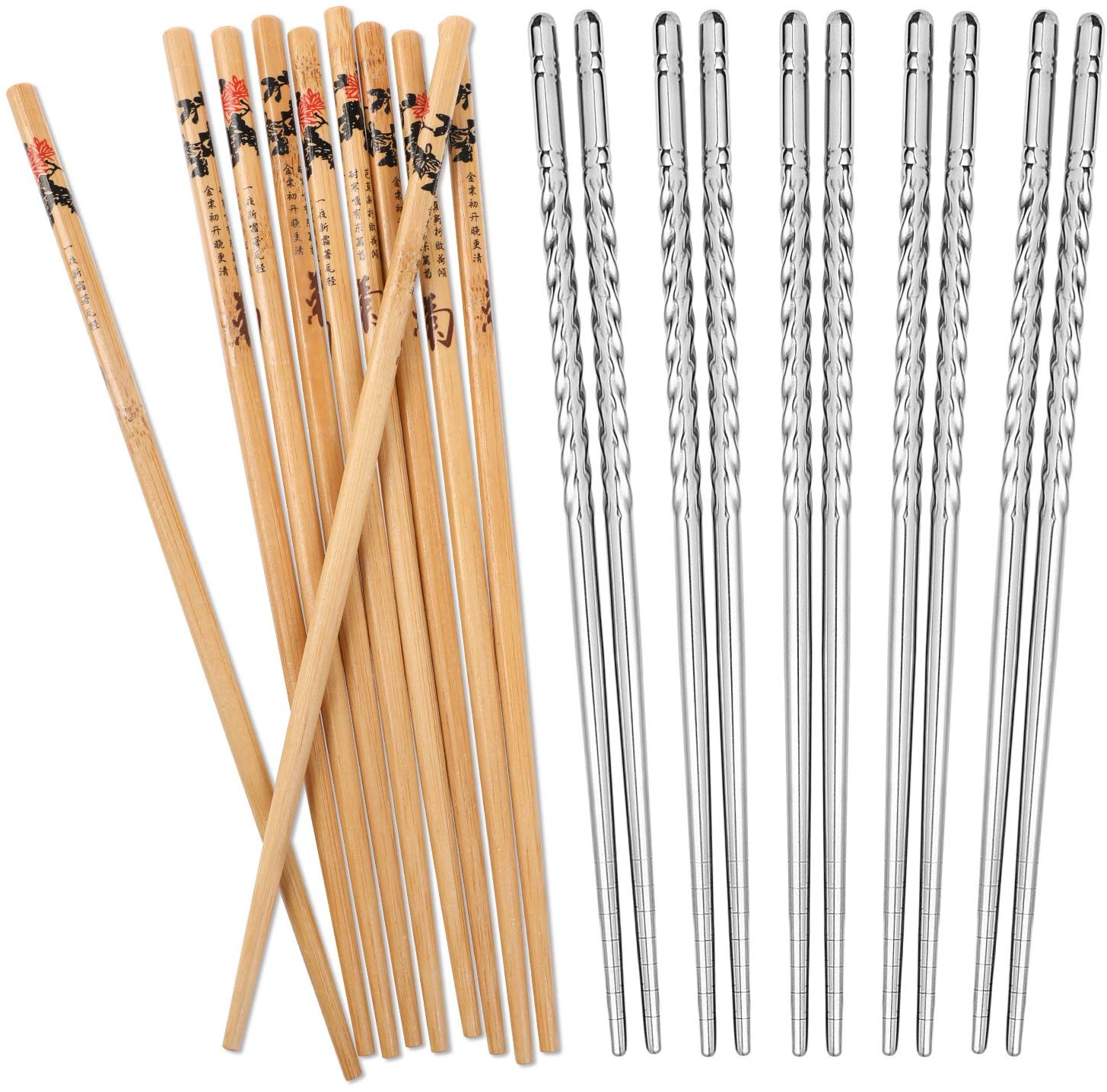 Hiware reusable chopsticks set