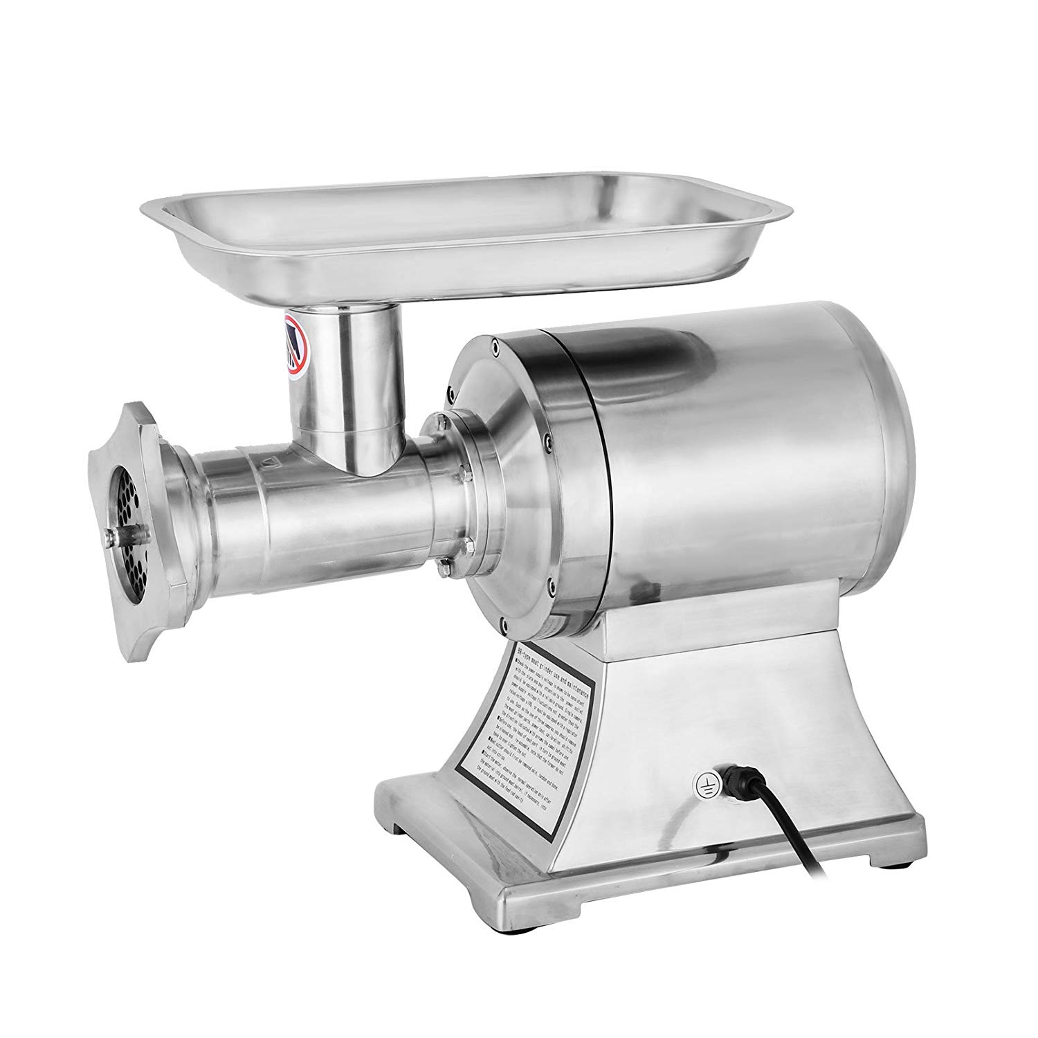 Happybuy 1.5hp/1100w meat grinder stainless steel