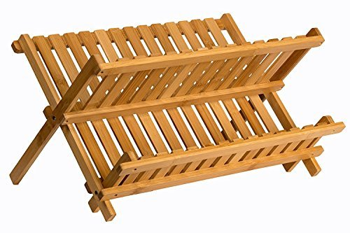 Saganizer wooden dish rack