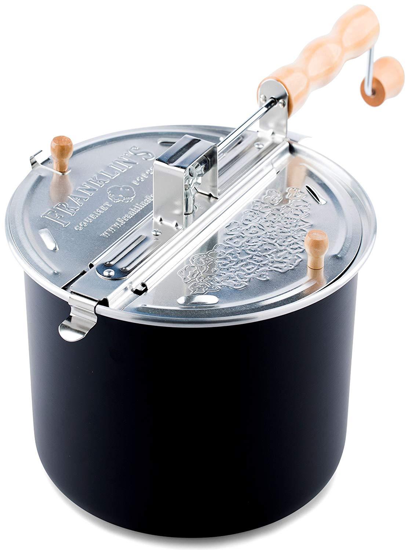 Franklin's whirley pop stove top popcorn maker