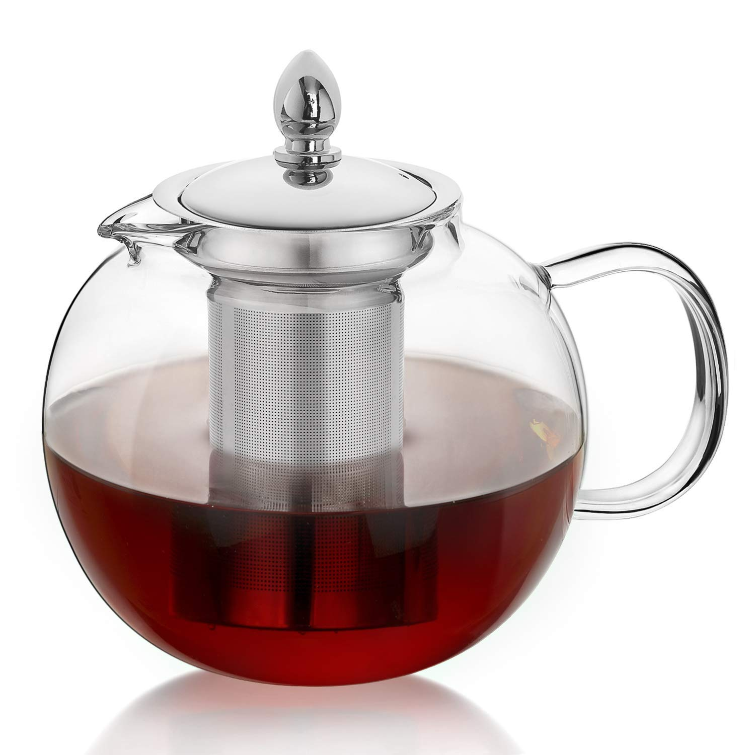 ?hiware glass teapot with removable infuser